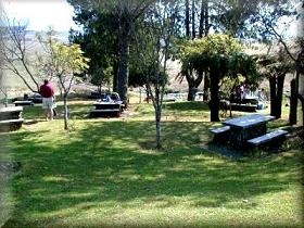 Picnic facilities at Mac Mac Pools